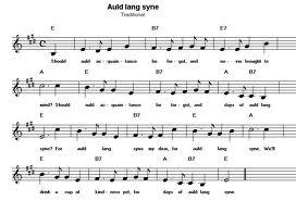 Auld Lang Syne music
