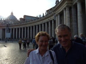 Linda and Ralph in St Peter's Square
