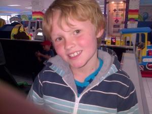 Birthday boy smiling